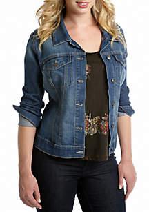 Plus Size Denim Pixie Jacket