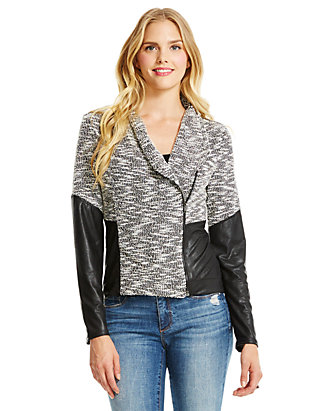 reliable reputation top style yet not vulgar Jessica Simpson Fiona Faux Leather Jacket | belk