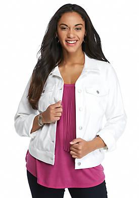 Plus Size Pixie Knit Denim Jacket