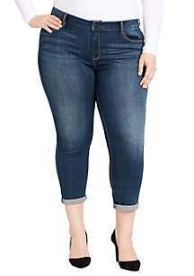 Plus Size Mika Best Friend Whiskers Denim Jeans