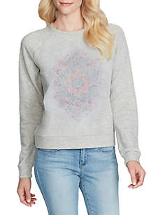 Kelara Graphic Mandala Sweatshirt