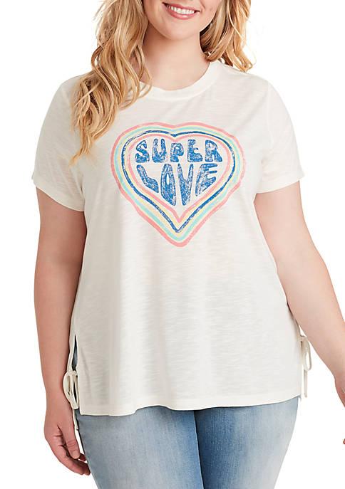 Jessica Simpson Plus Size Eunice Side Tie Tee