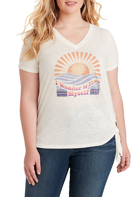 Jessica Simpson Plus Size Maya Graphic Wander T