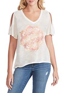 78ccba9aec6c7 ... Jessica Simpson Frankie Slit Sleeve T Shirt