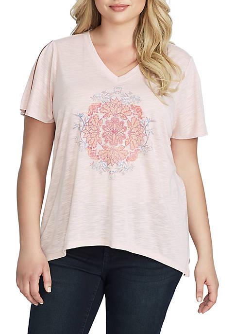 Plus Size Frankie Mandala T Shirt