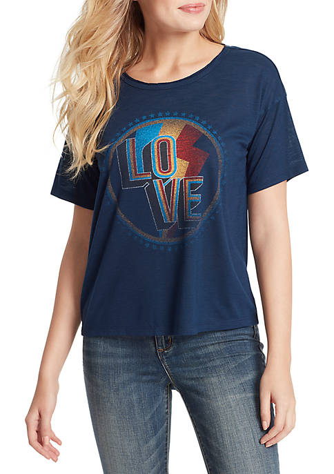 Jessica Simpson Remmi Short Sleeve Love T Shirt