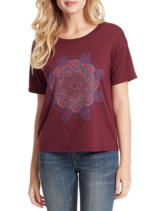 Jessica Simpson Remmi Mandala Short Sleeve T Shirt