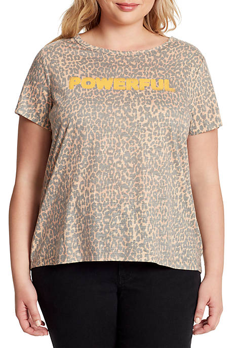 Jessica Simpson Plus Size Remmi Short Sleeve Powerful