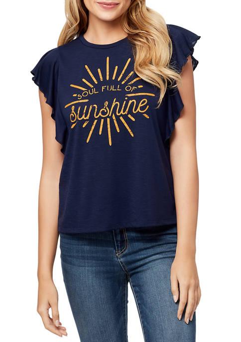 Jessica Simpson Yara Soul Full Graphic T-Shirt