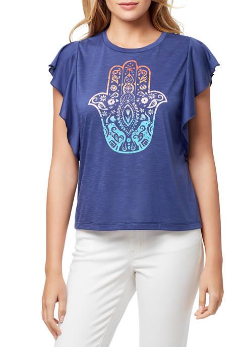 Jessica Simpson Yara Elephant Hamsa Graphic T-Shirt