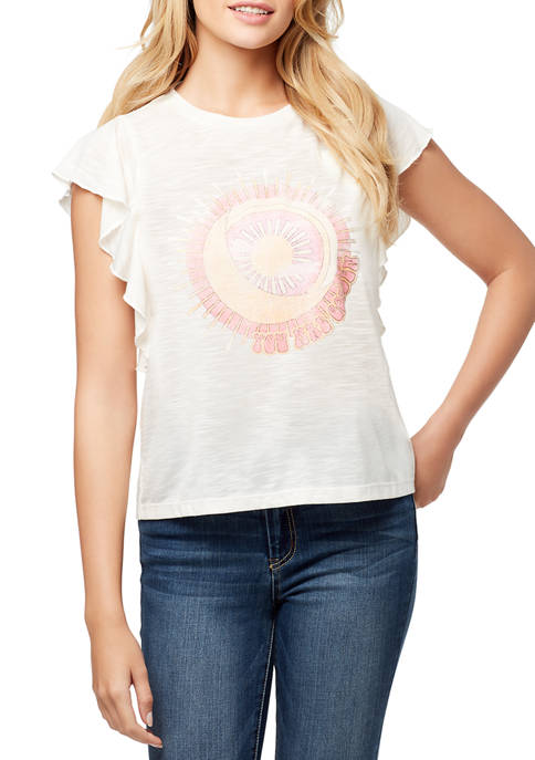 Jessica Simpson Yara Golden Graphic T-Shirt