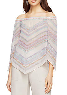 Octavia Woven Off Shoulder Stripe Top