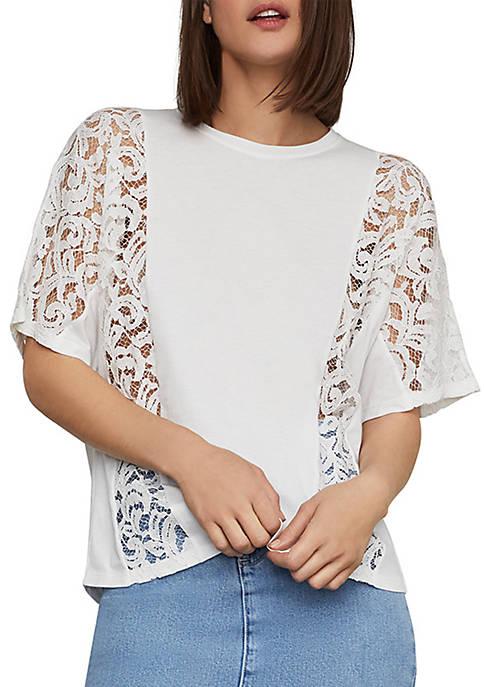 Lace Inset T Shirt