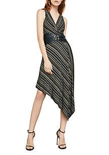 Asymmetrical Hem Stripe Dress