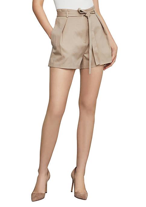 BCBGMAXAZRIA Belted Paperbag Waist Shorts