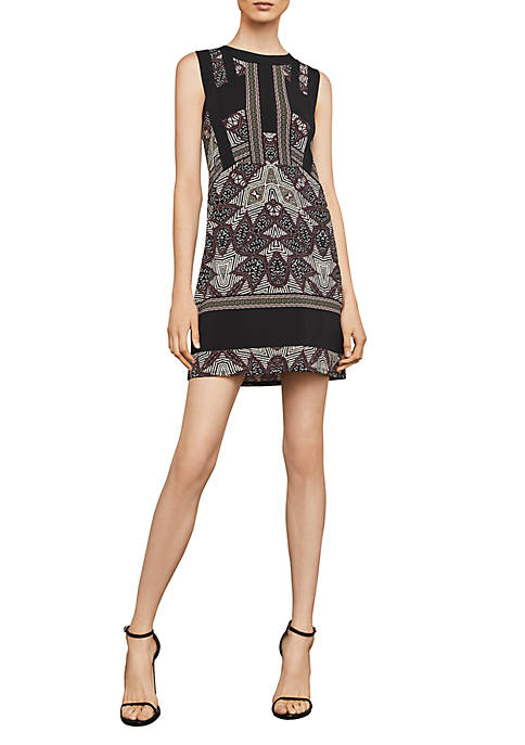 BCBGMAXAZRIA Geometric Printed Knit Dress