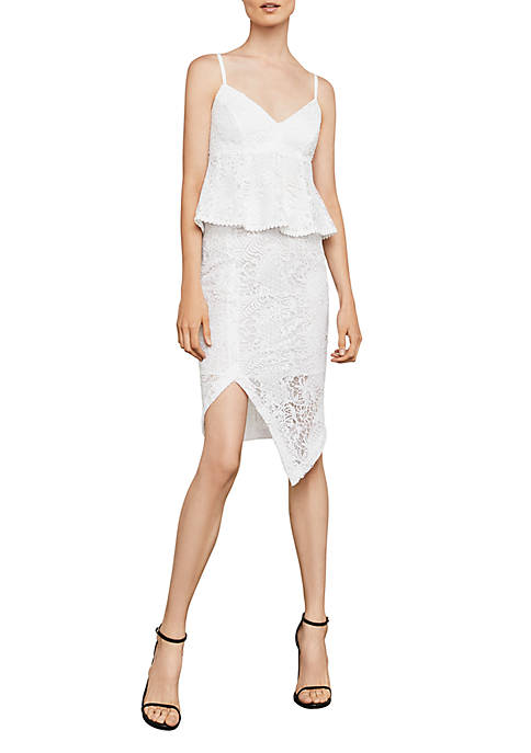 BCBGMAXAZRIA Meaghan Sleeveless Lace Crop Top