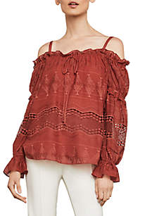Cold Shoulder Peasant Blouse