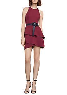 Sleeveless Dress with Layered Ruffle
