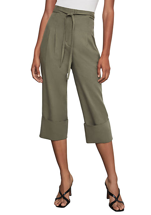 BCBGMAXAZRIA Woven Cropped Pants