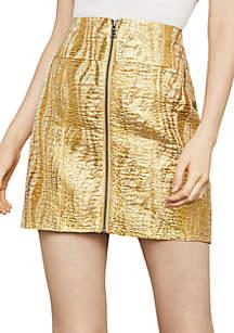 Metallic Textured Mini Skirt