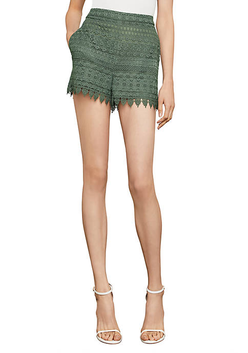 BCBGMAXAZRIA Tiered Lace Shorts