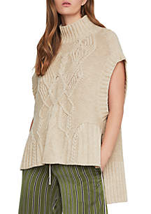 Cable Knit Turtleneck Pullover Sweater
