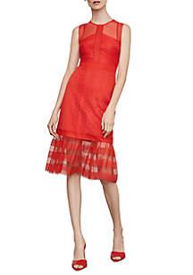 Midi Lace Tier Dress