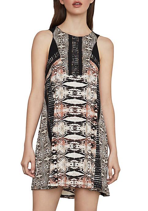 Ombré Print A Line Dress
