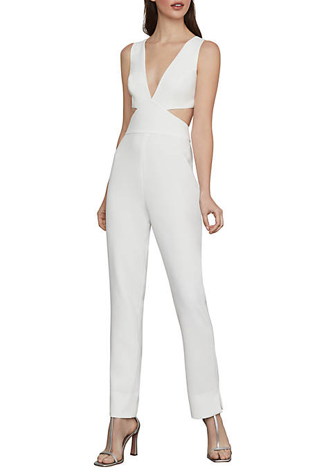 BCBGMAXAZRIA Sleeveless Cutout Back Jumpsuit