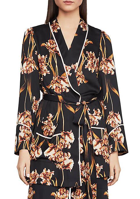 BCBGMAXAZRIA Tulip Print Robe Jacket