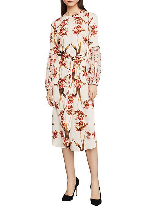 BCBGMAXAZRIA Tulip Print Shift Dress
