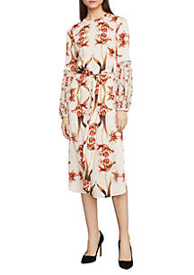 BCBGMAXAZRIA Tulip Print Shift Dress