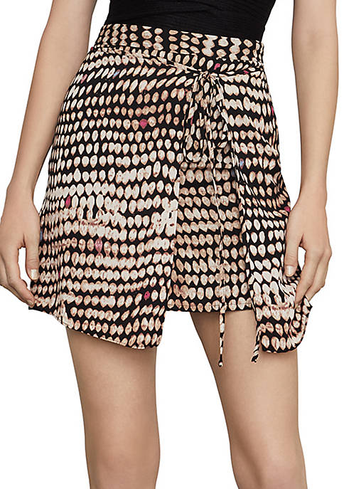 BCBGMAXAZRIA Sandy Dots Mini Skirt