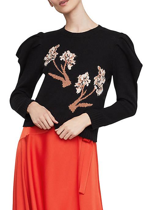 BCBGMAXAZRIA Iris Draped Sleeve Sweater
