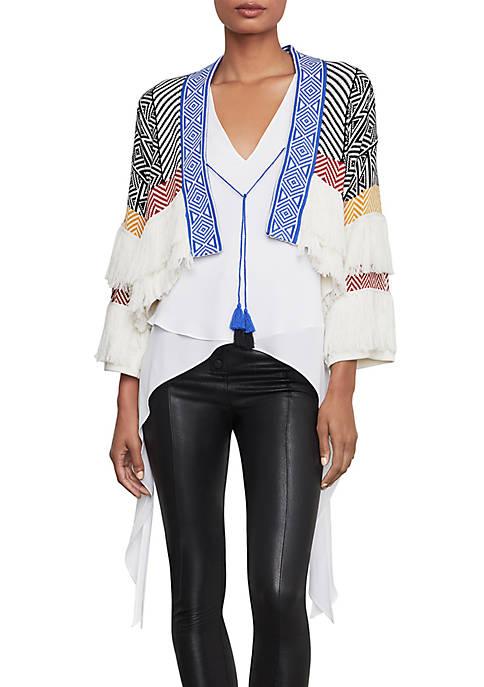 BCBGMAXAZRIA Short Sleeve Cardigan Sweater