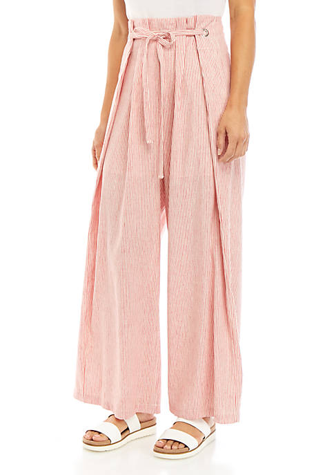 BCBGMAXAZRIA Pinstripe Overlay Pants