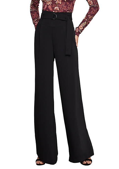 BCBGMAXAZRIA High Waist Wide Leg Woven Pants