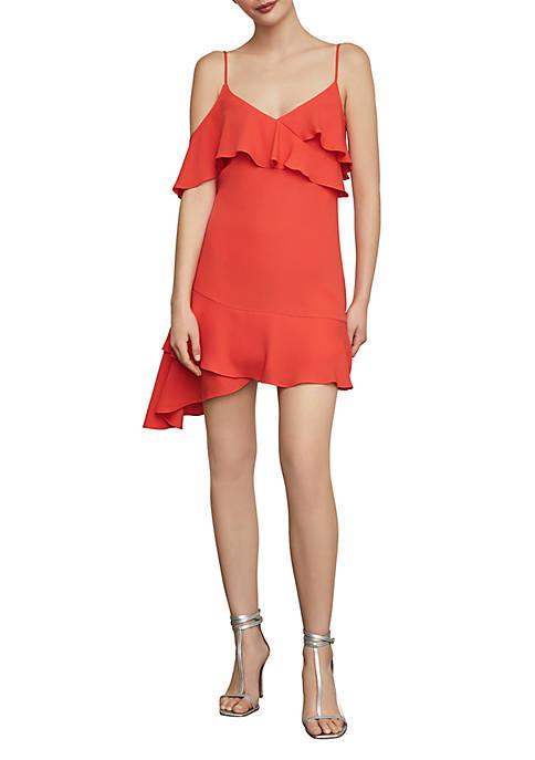 Asymmetric Ruffle A Line Dress