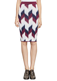 Leger Color-Blocked Jacquard Skirt
