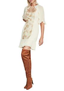 Metallic Floral Sequin Dress