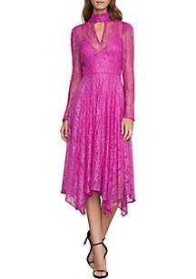 Lace Cocktail Midi Dress