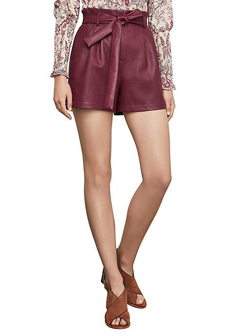 BCBGMAXAZRIA Womens Tie Waist Shorts