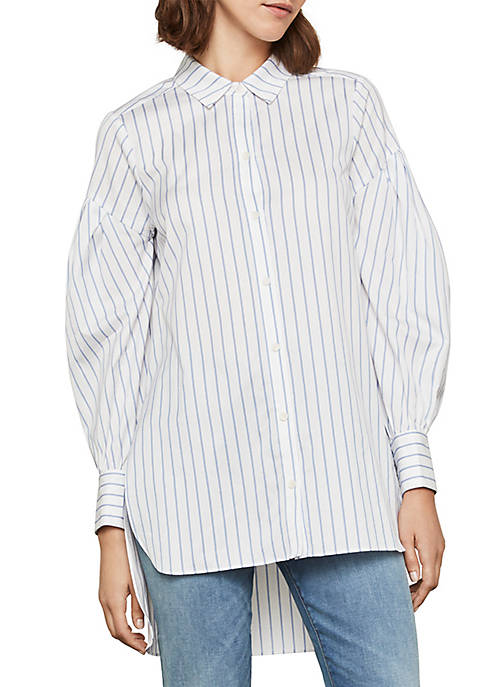 BCBGMAXAZRIA Long Sleeve Striped Shirt