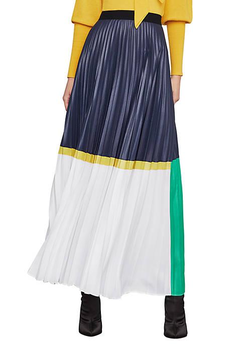 Colorblocked Chintz Maxi Skirt