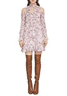 Janus Cold-Shoulder A-Line Dress