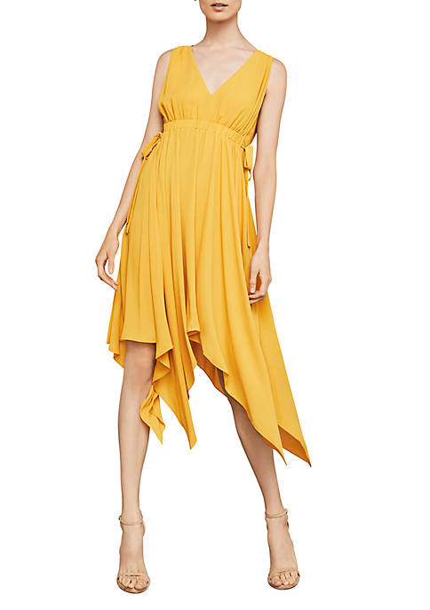 BCBGMAXAZRIA Sleeveless Handkerchief Dress