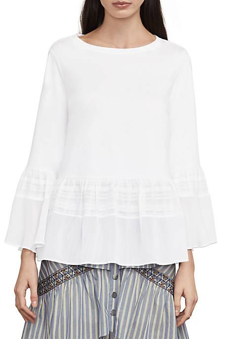 BCBGMAXAZRIA Harmony Sportswear Knit Top free shipping