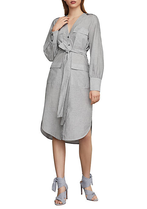 BCBGMAXAZRIA Patch Pocket Shirt Dress