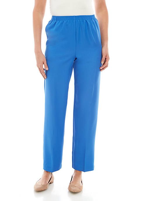 Alfred Dunner Classic Color Poly Pants